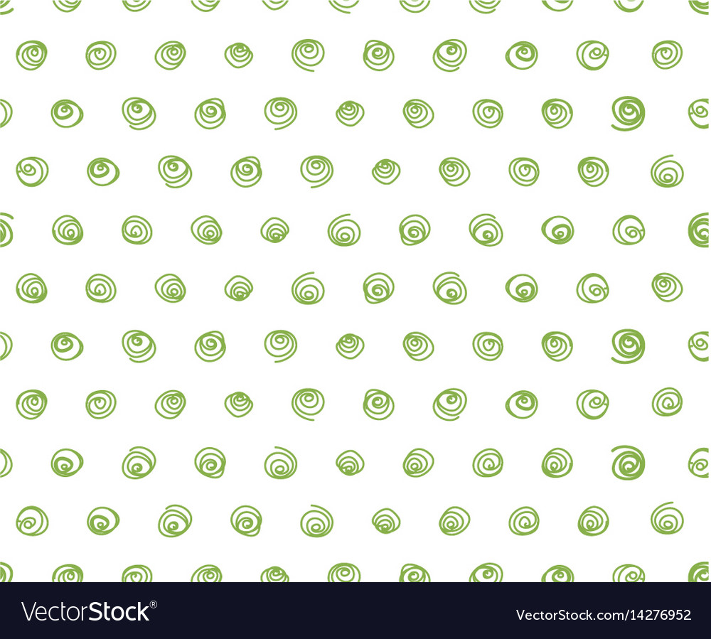 Doodle swirls white background seamless pattern vector image