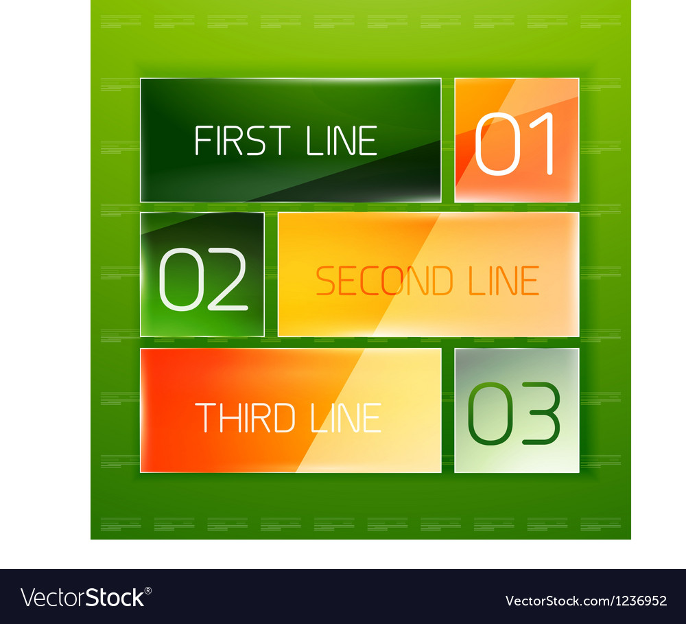 Modern glossy infographic banner design template vector image