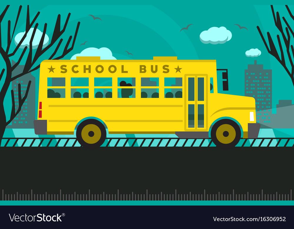 School bus back to school vector image
