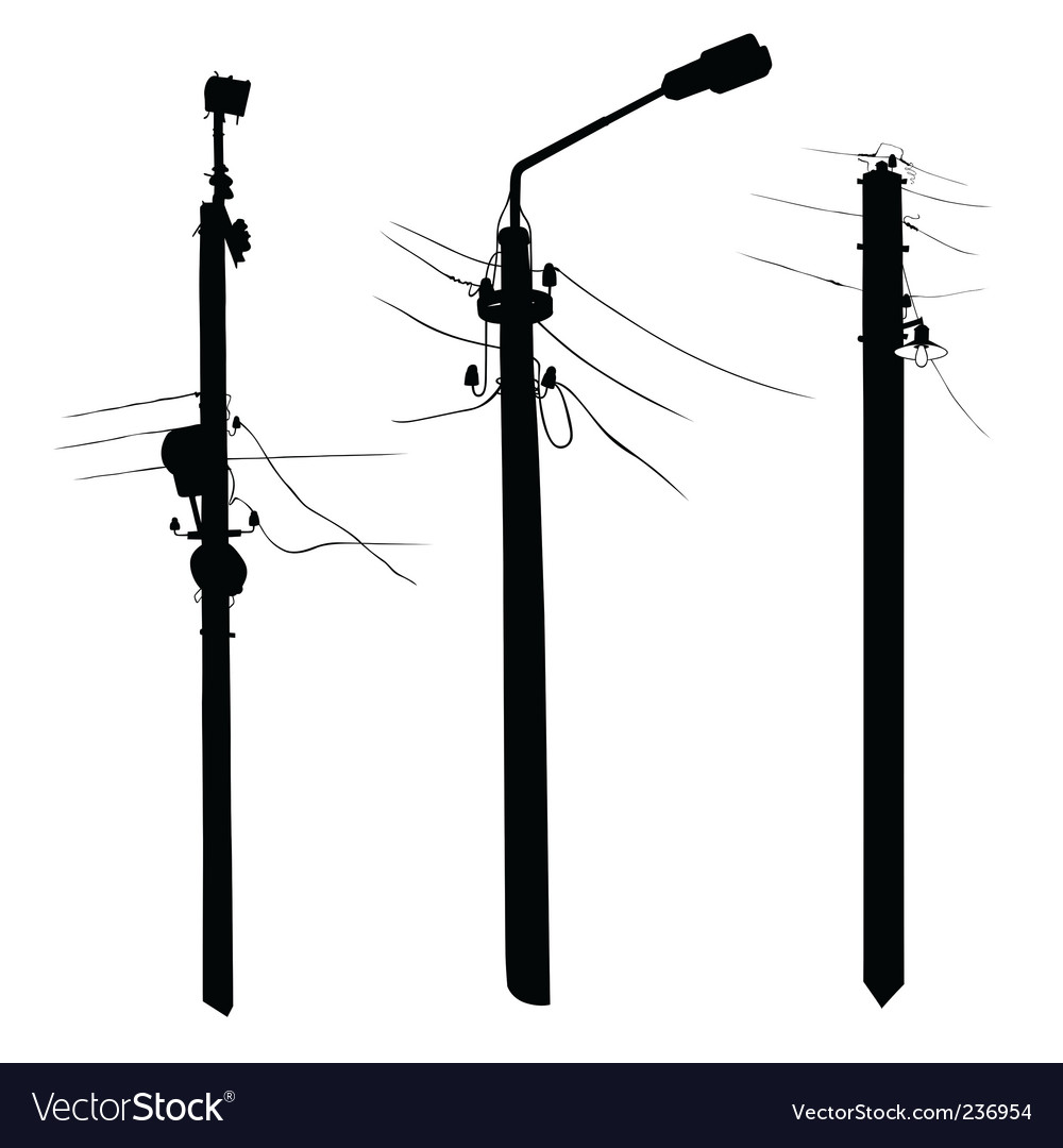 Grunge lamp silhouettes Vector Image