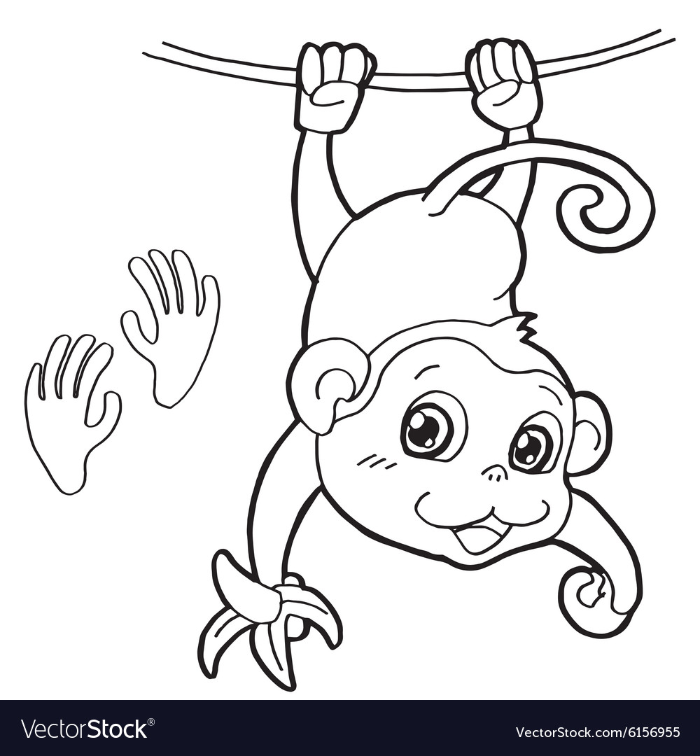 Uncategorized Paw Print Coloring Page monkey with paw print coloring pages royalty free vector image