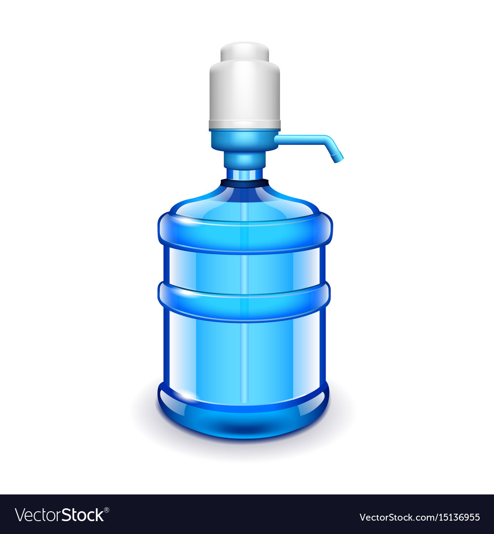 Office water bottle with pomp isolated on white vector image