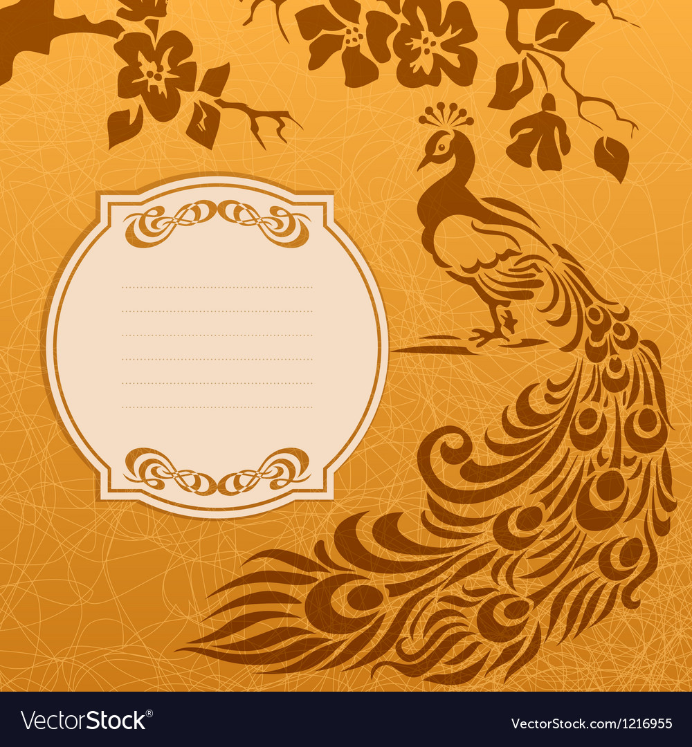 Peacock grunge background vector image