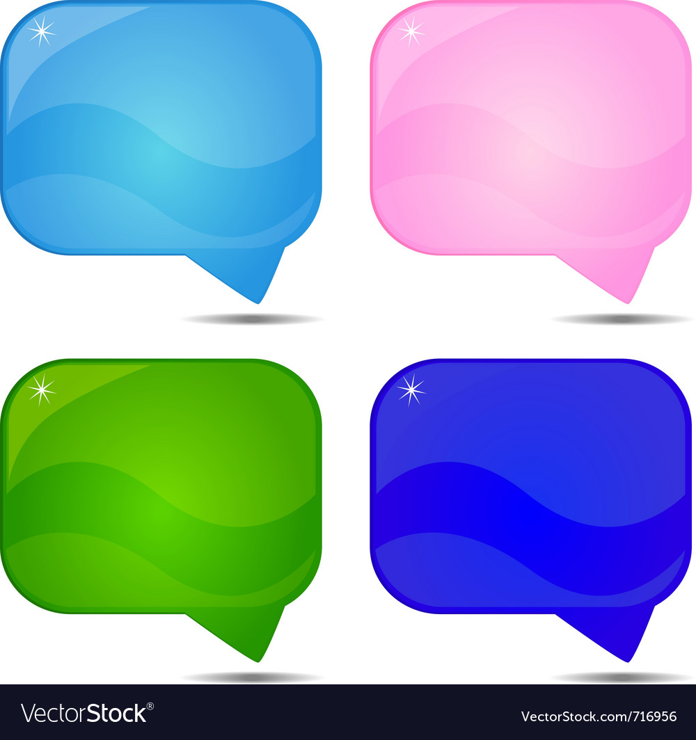 Abstract speech background vector image