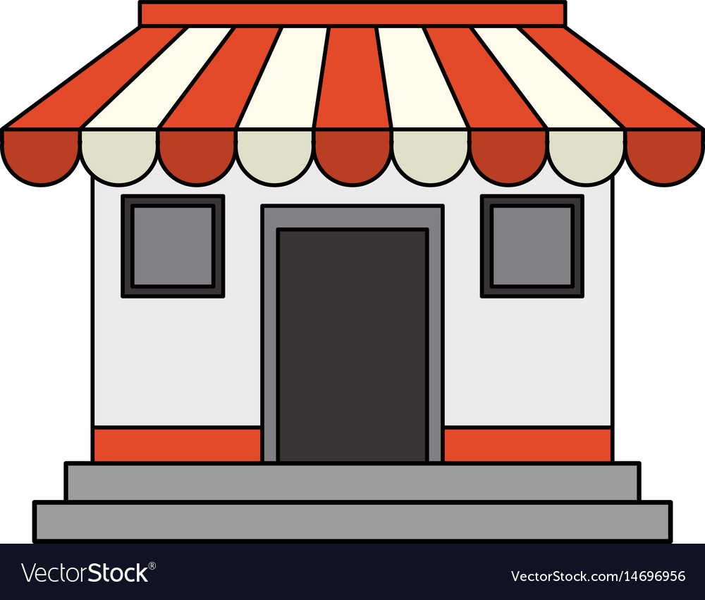Colorful image cartoon facade shop store vector image
