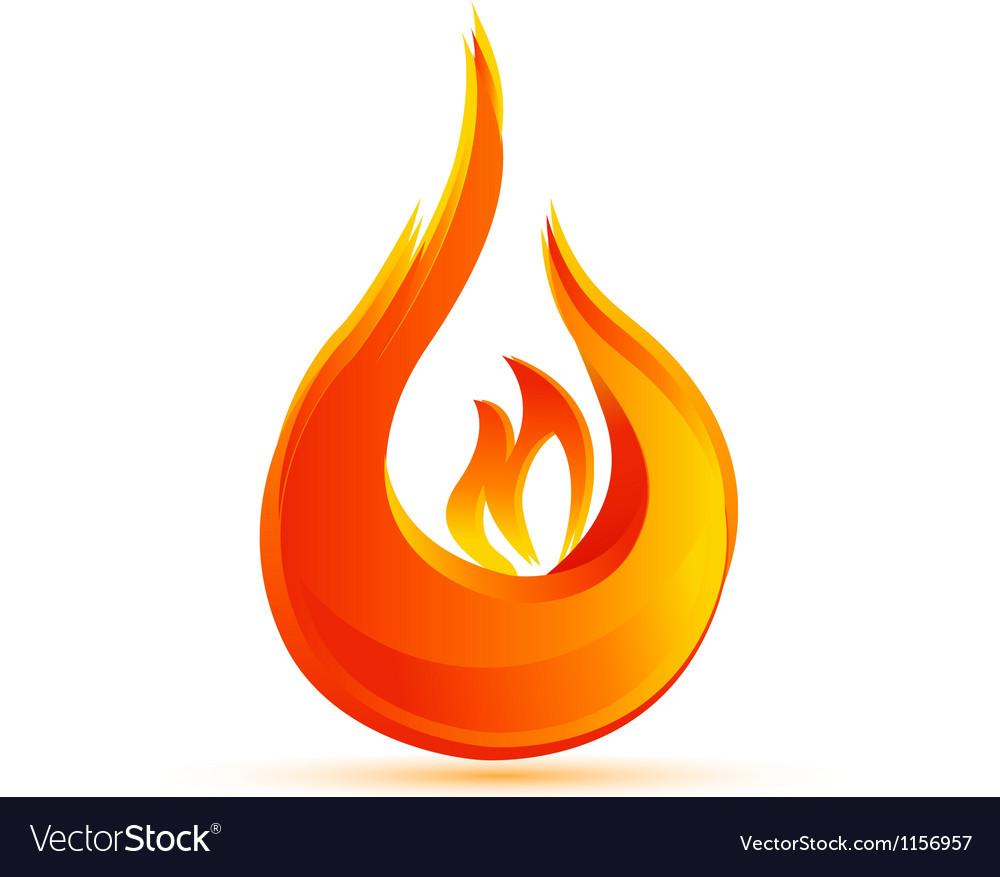 Fire flames logo vector image