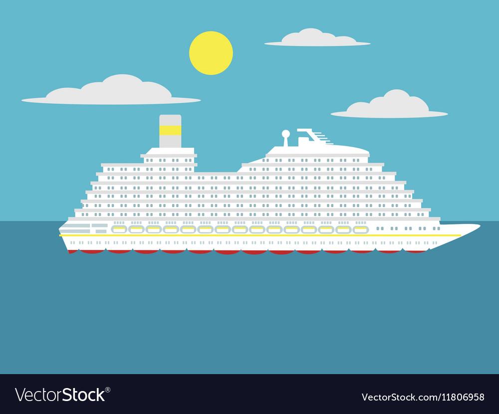 Cruise passenger ship cartoon vector image
