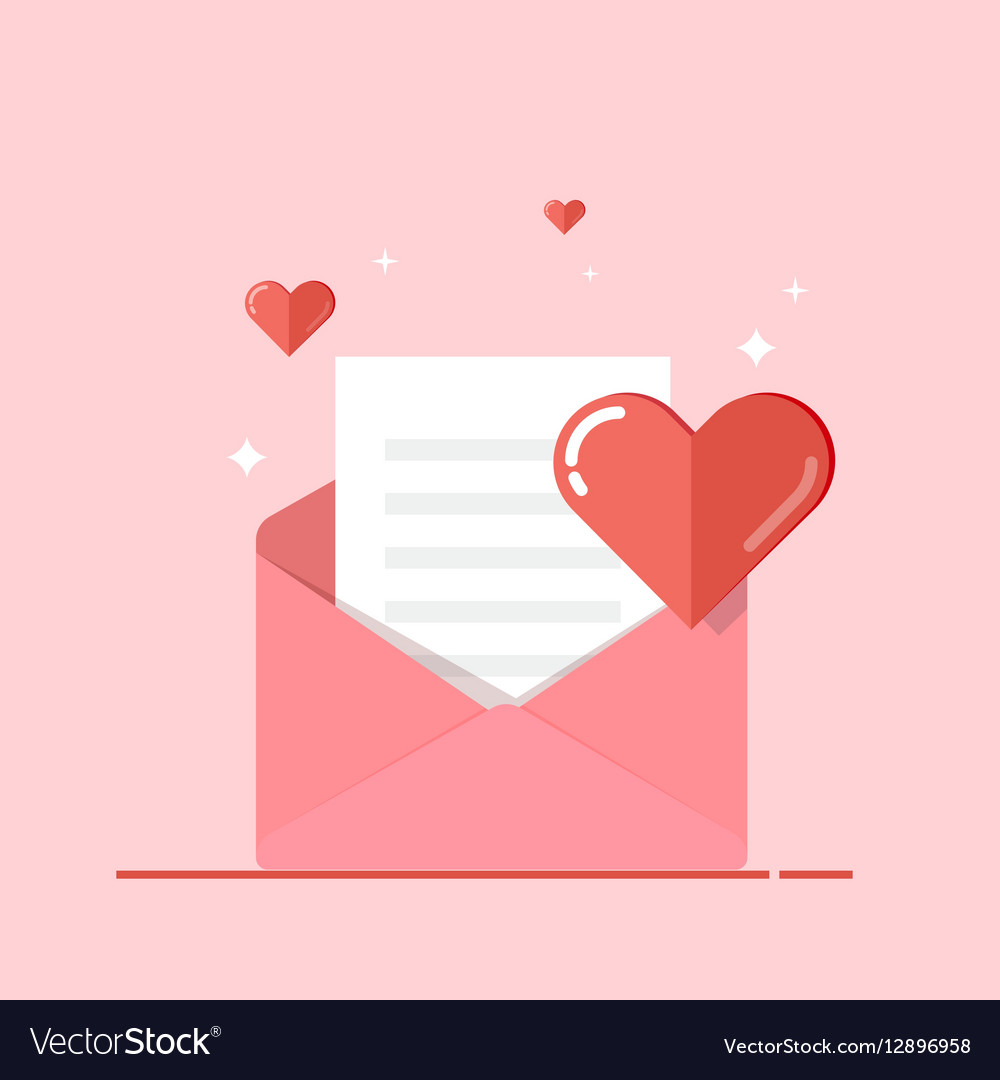 Love letter greeting card invitation isolated on vector image stopboris Choice Image