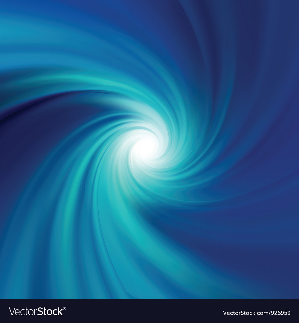 Blue rotation water vector image