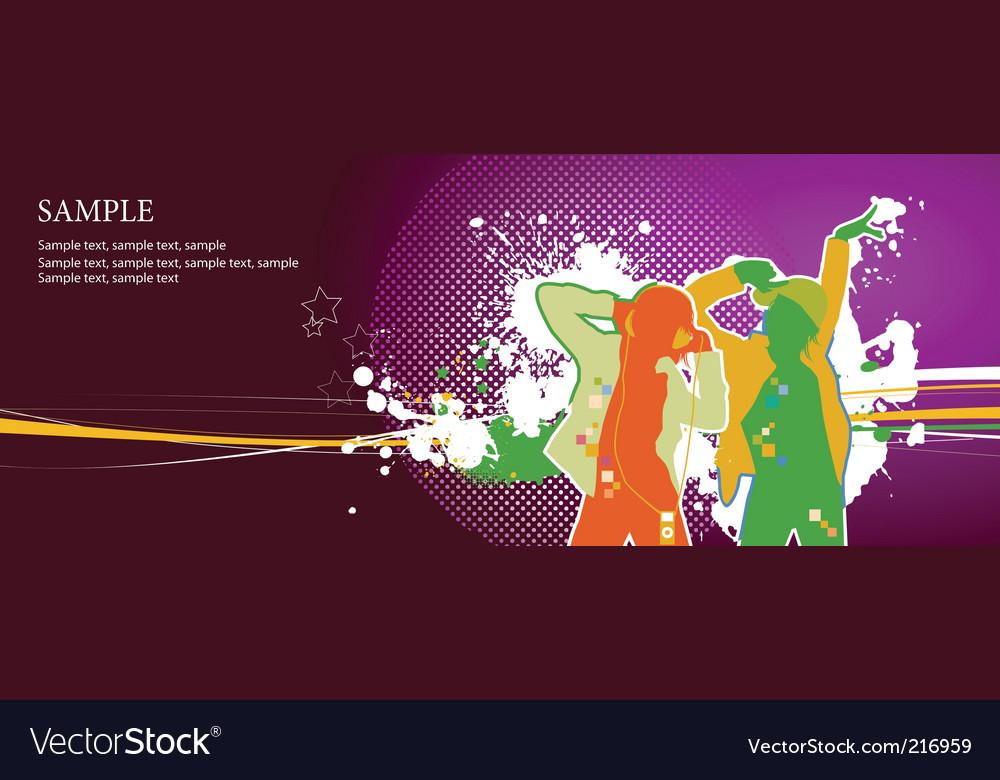 Dancers vector image