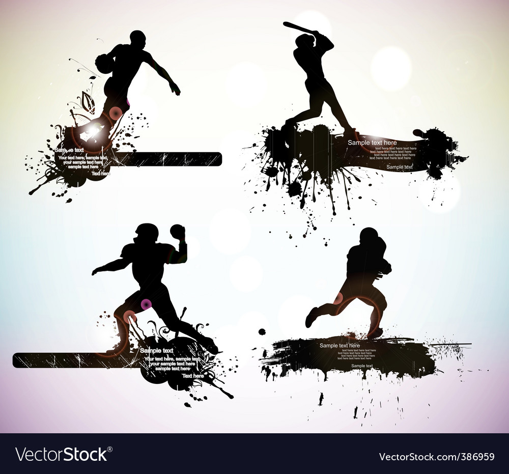Sportsmen vector image