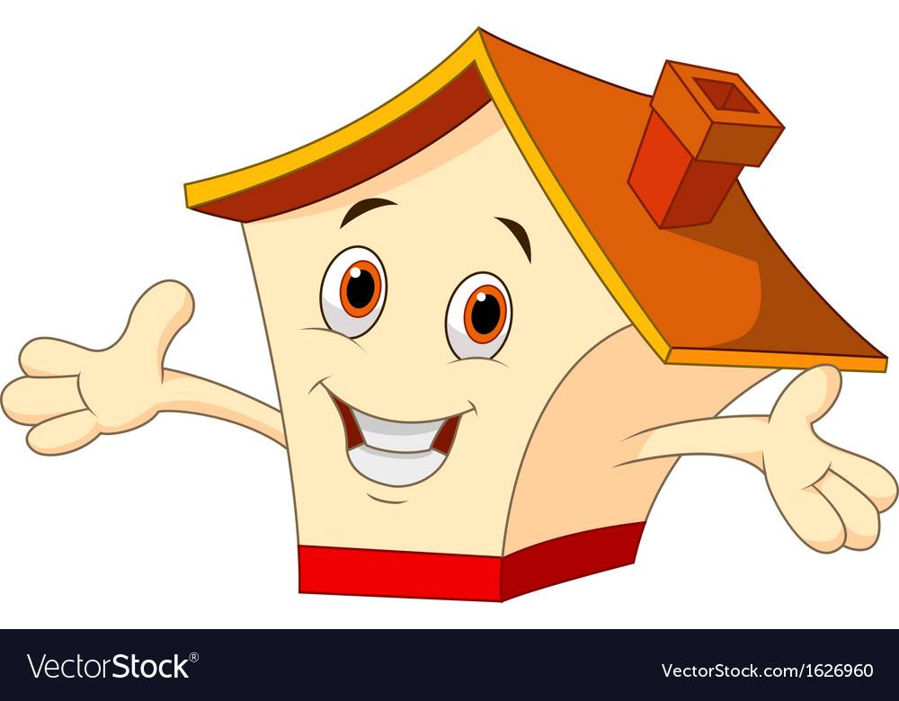 Cute house cartoon vector image