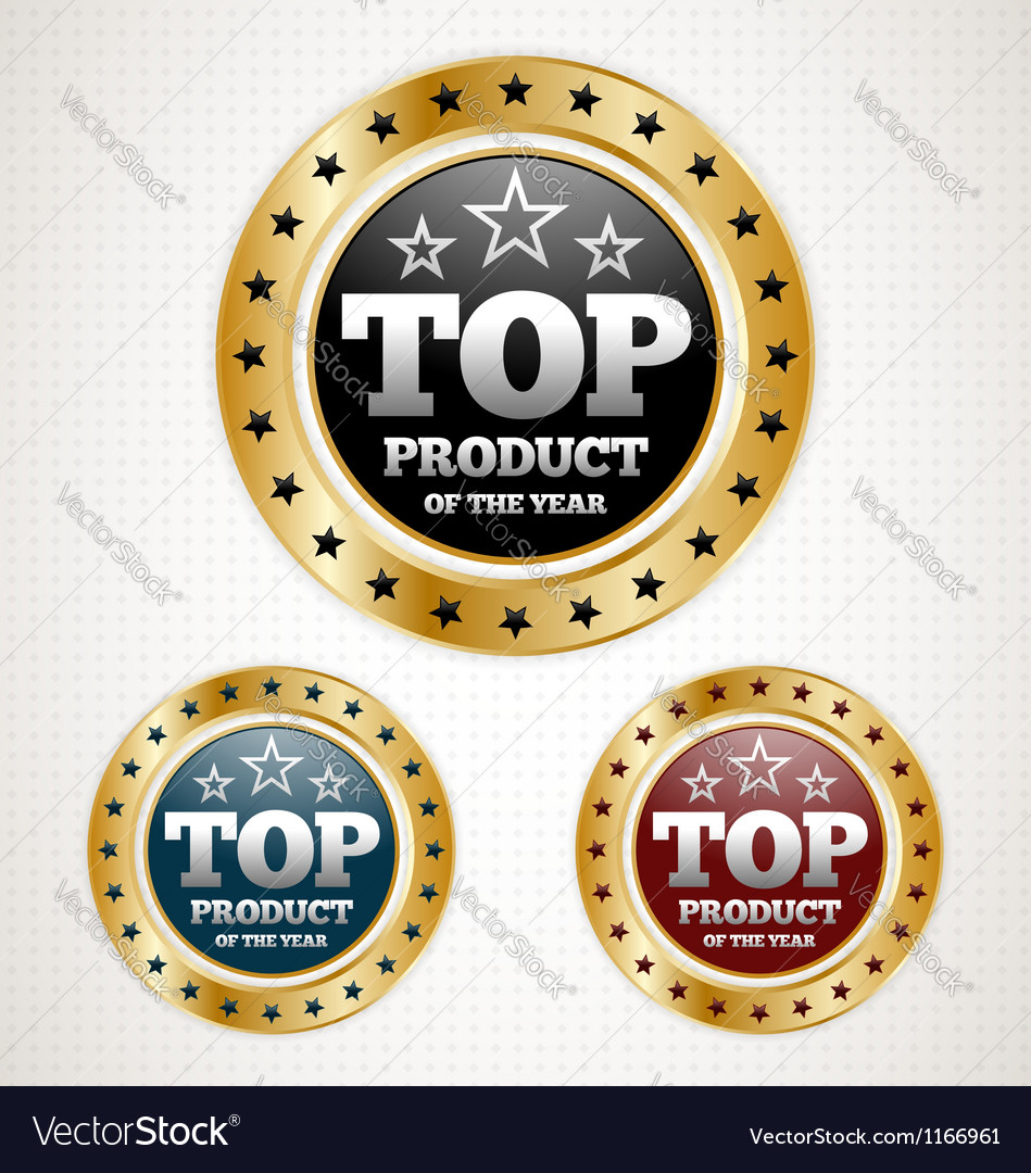 Top product badge vector image