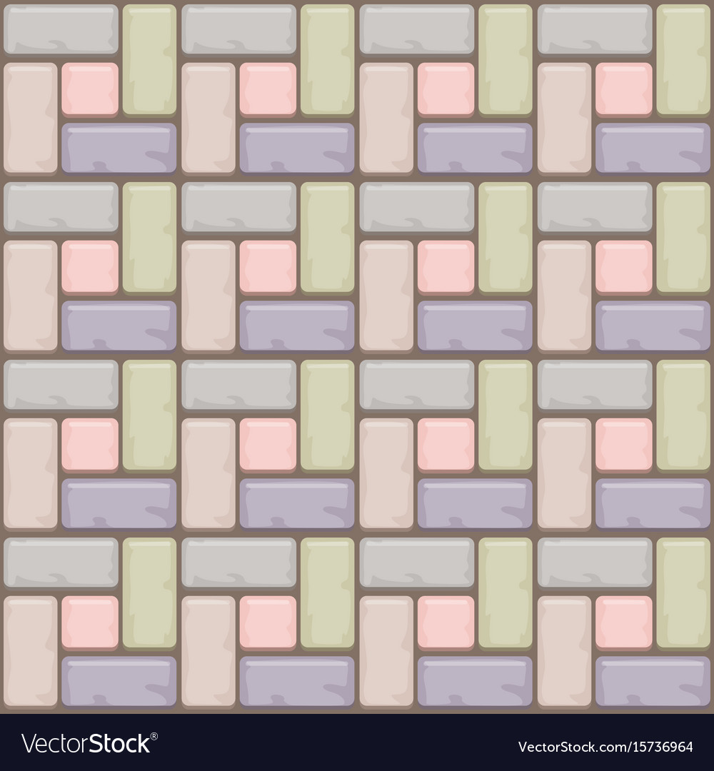 Colored concrete paving slabs surface seamless vector image