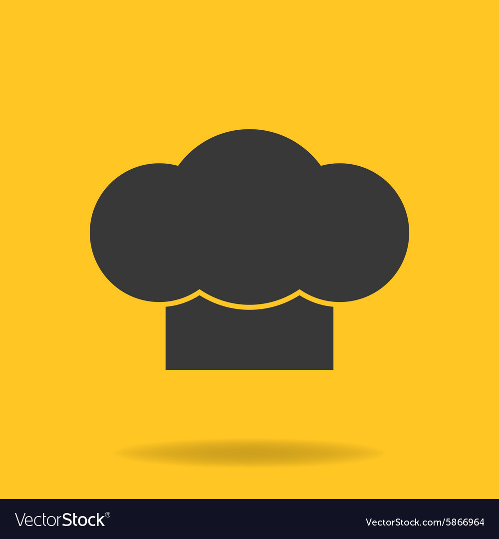 Icon of Chef cook cap vector image