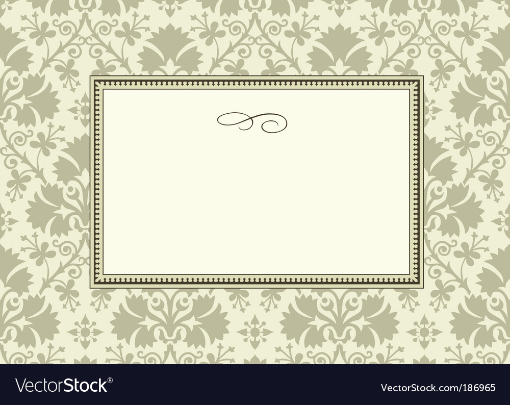 Leaf pattern and frame vector image
