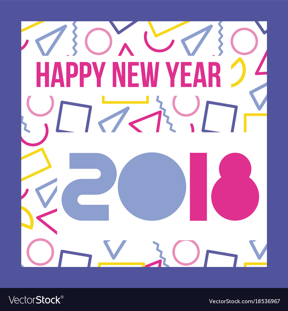 Happy new year 2018 card greeting royalty free vector image happy new year 2018 card greeting vector image kristyandbryce Images
