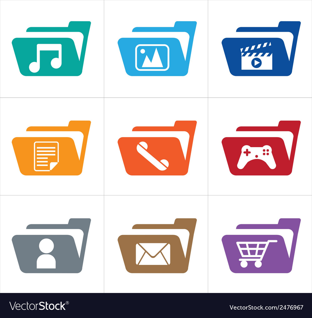 Icon folder vector image