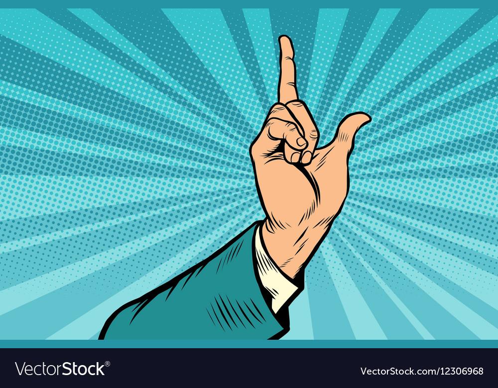 Index finger up gesture vector image