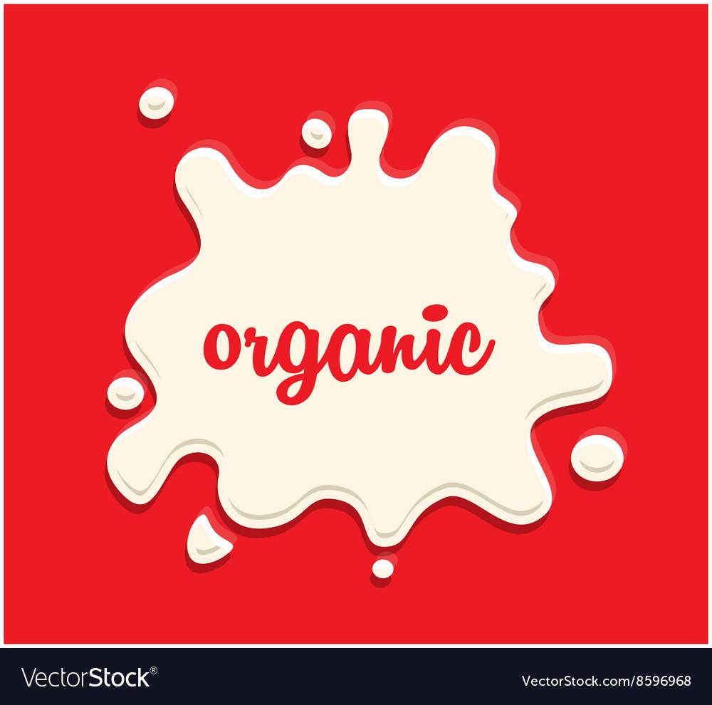 Milk splodge red background vector image