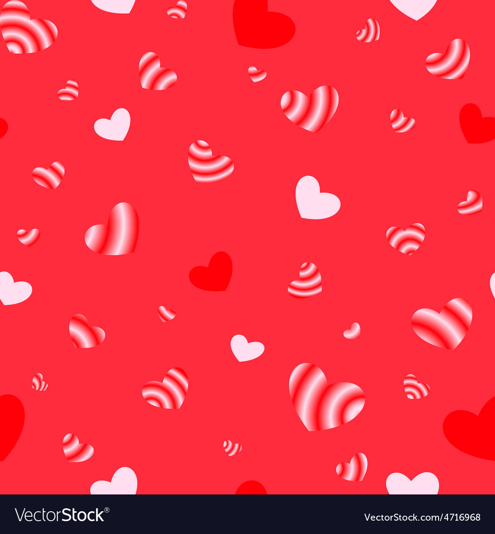 Seamless texture of hearts vector image