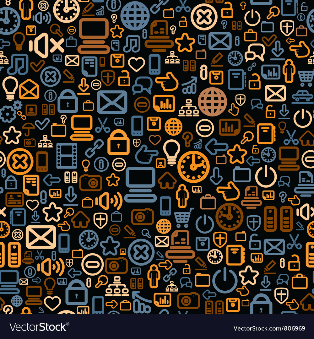 Seamless Technology Pattern vector image