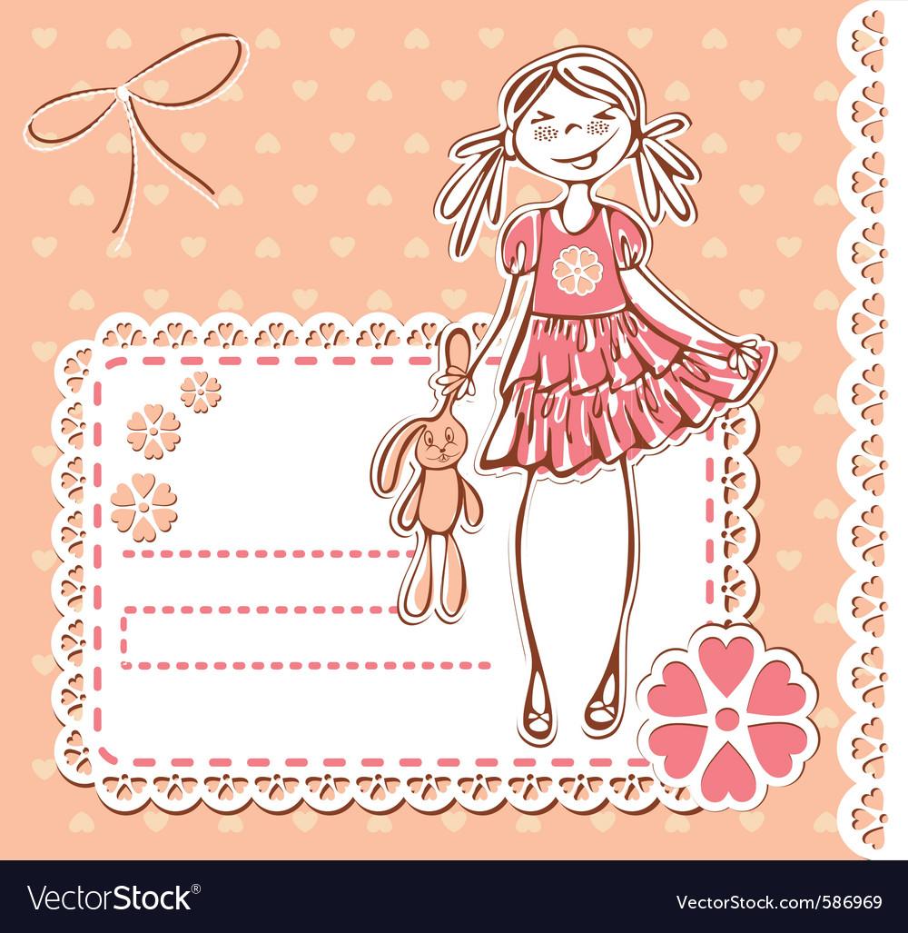 Cute cartoon smile vector image