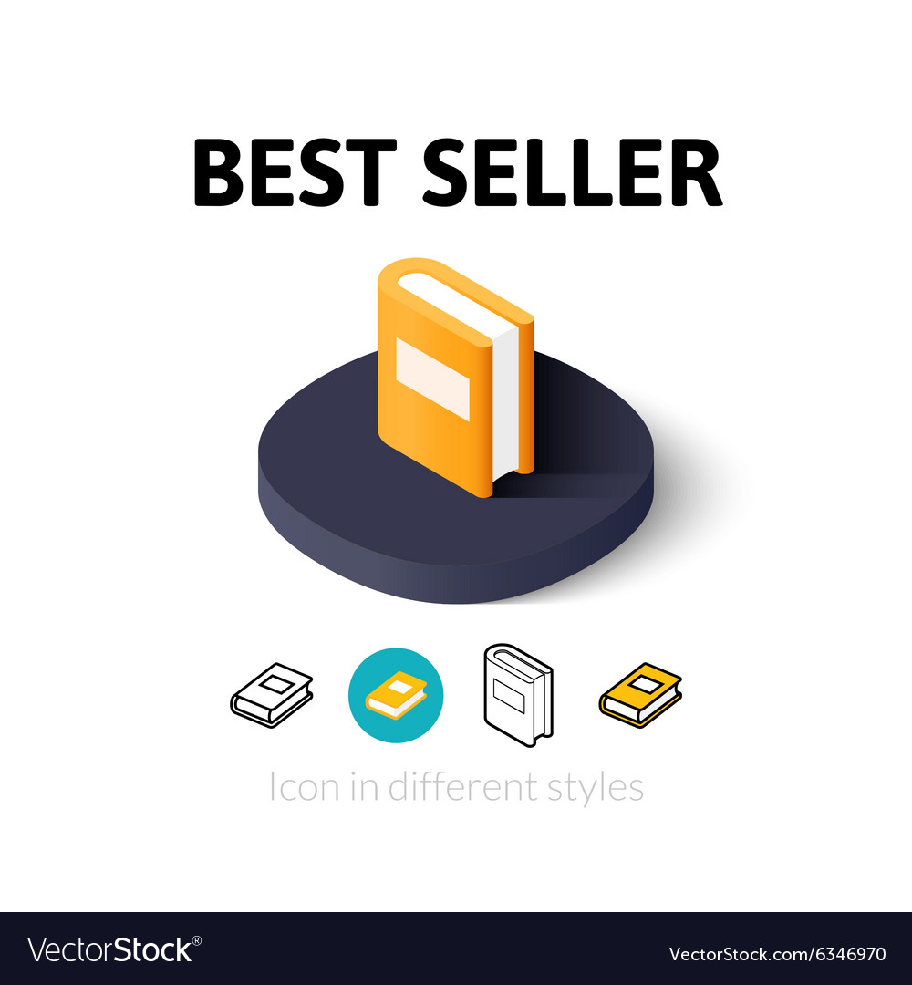 Best seller icon in different style vector image