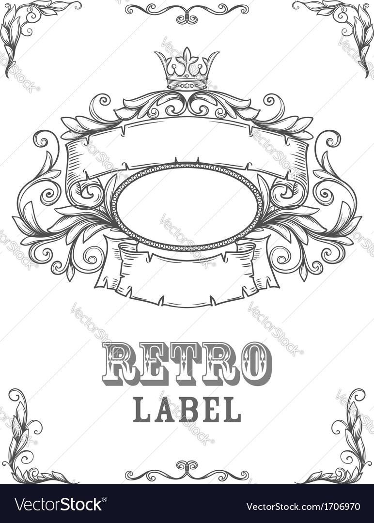 Template certificate vector image