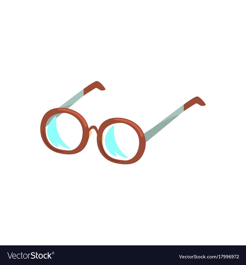 Glasses cartoon vector image