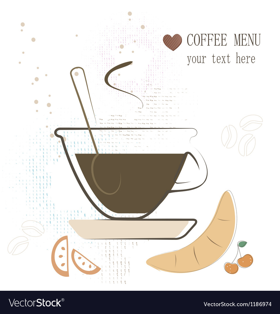 Tea menu vector image