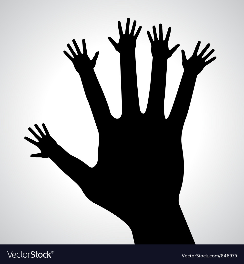 Caring hands vector image