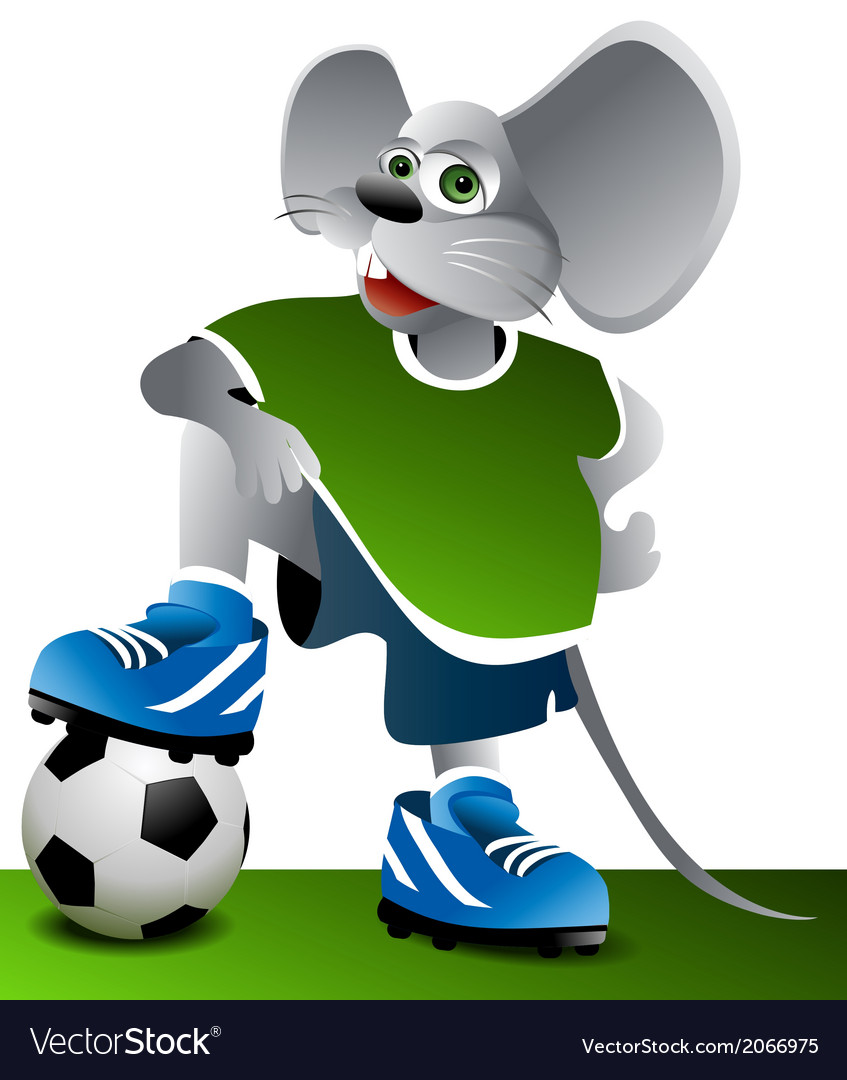 Football mouse vector image