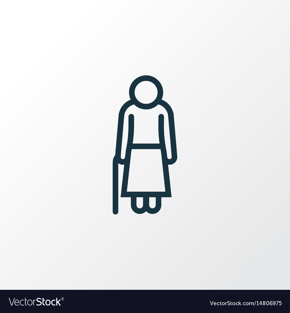 Old outline symbol premium quality isolated woman vector image
