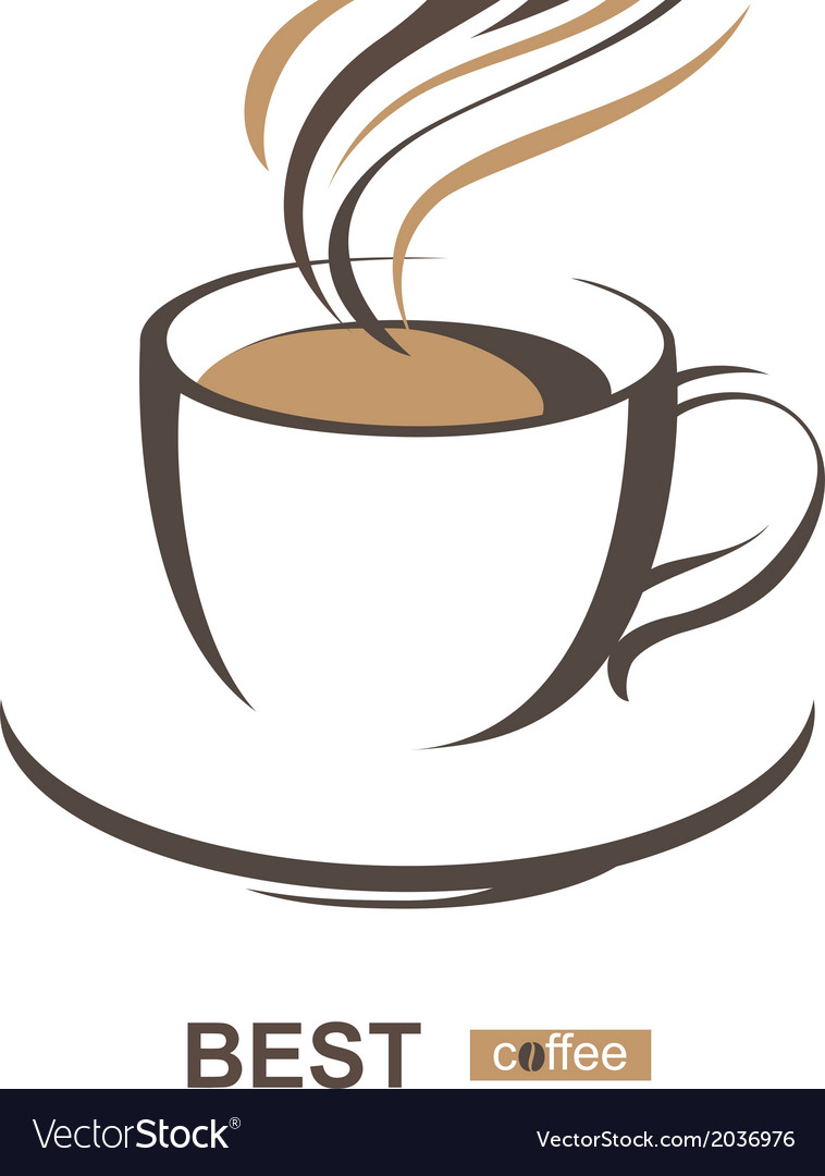 Coffee cup vector free - Stylized Coffee Cup Vector Image