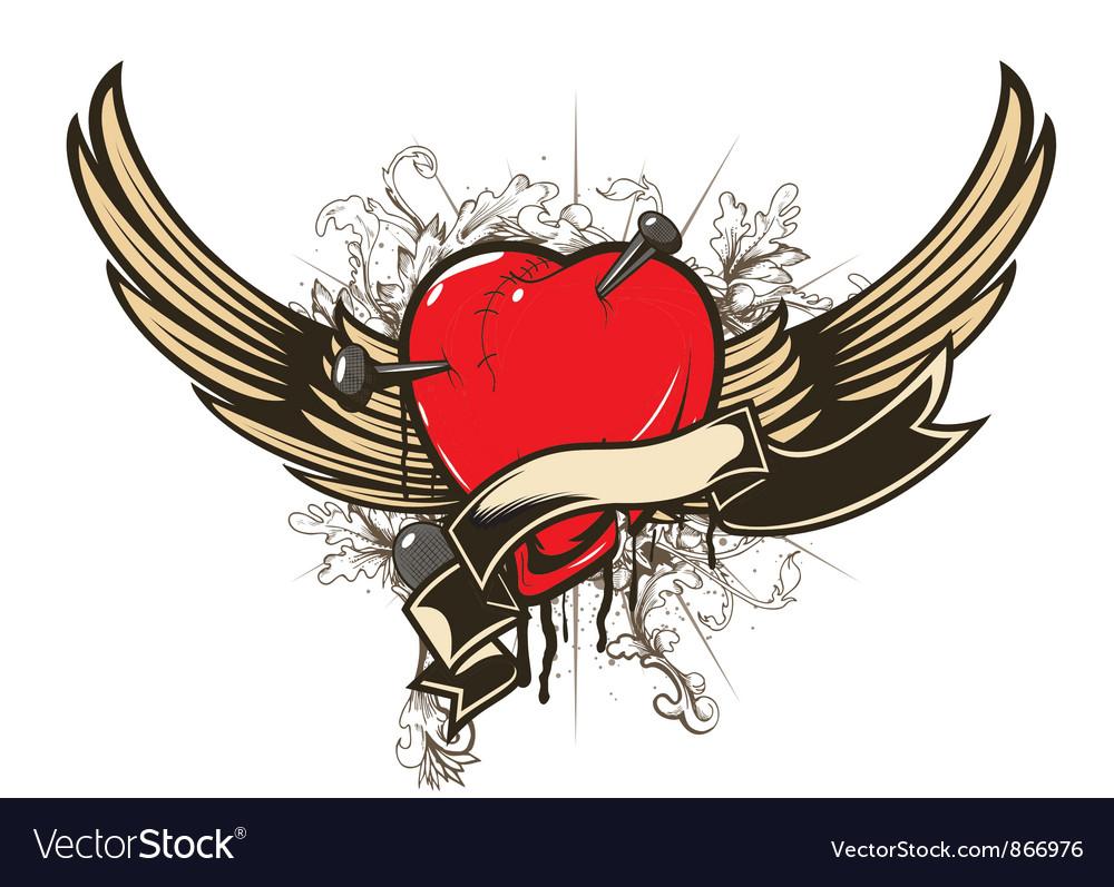 Valentine emblem vector image