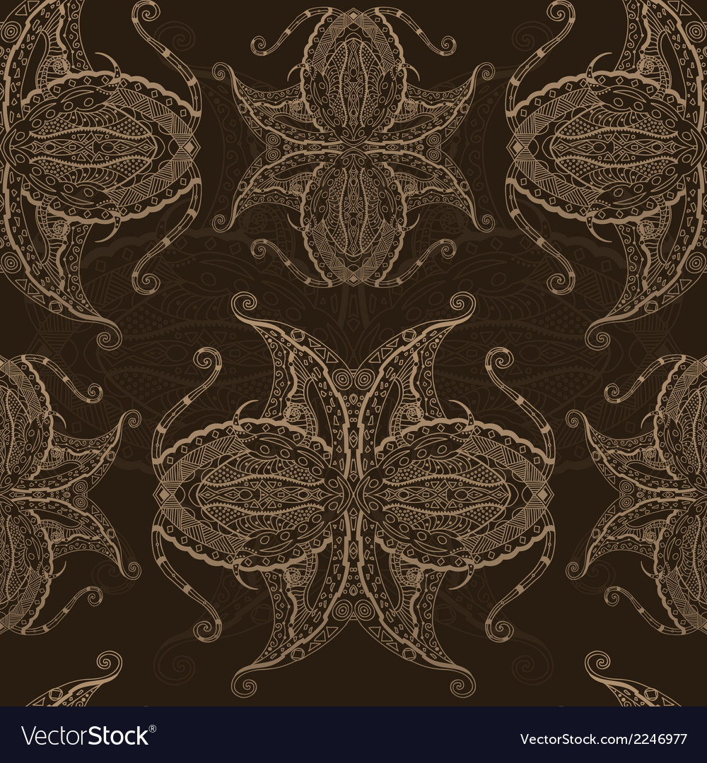 Abstract hand drawn grunge lace pattern vector image