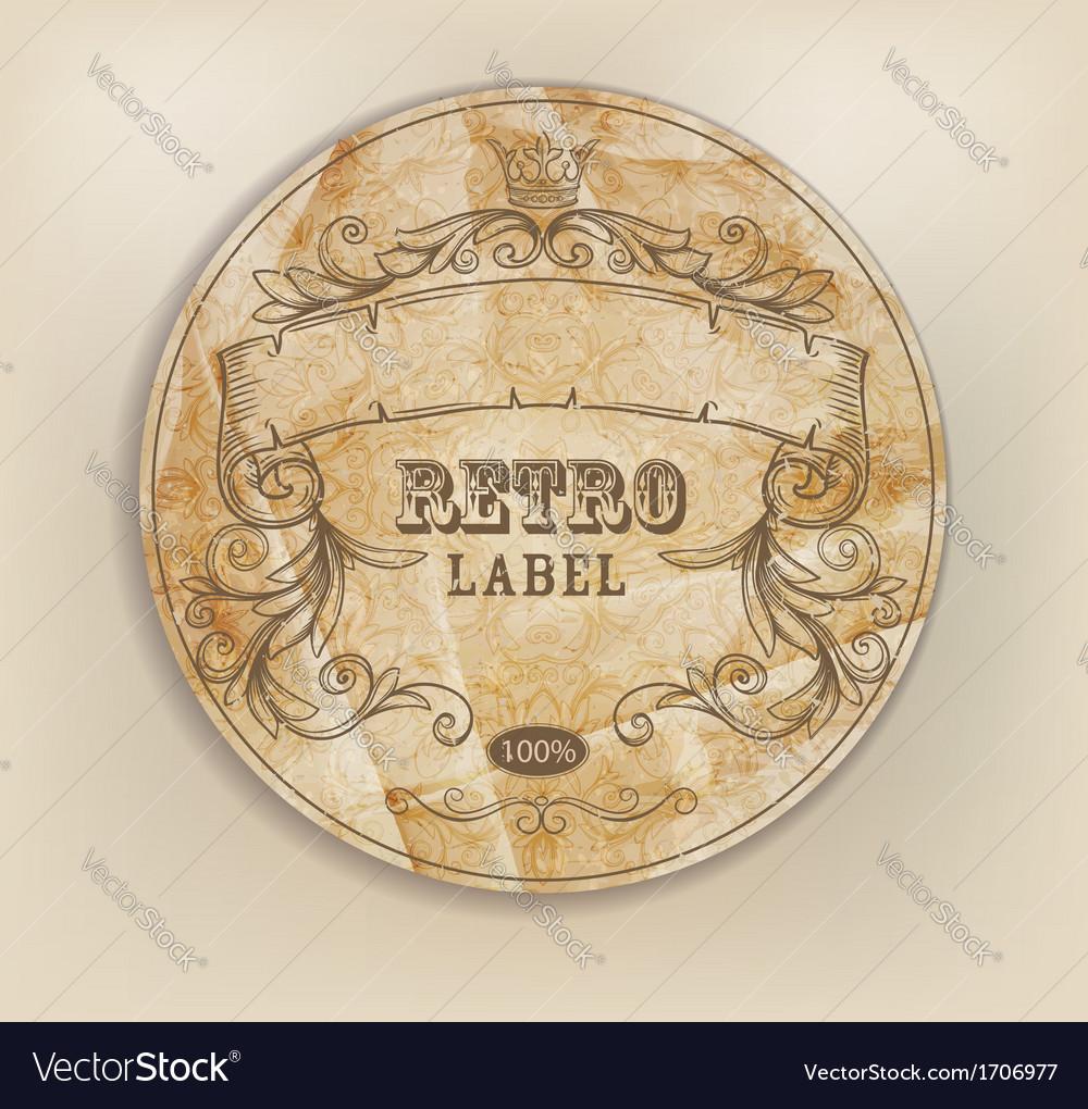 Vintage retro label vector image