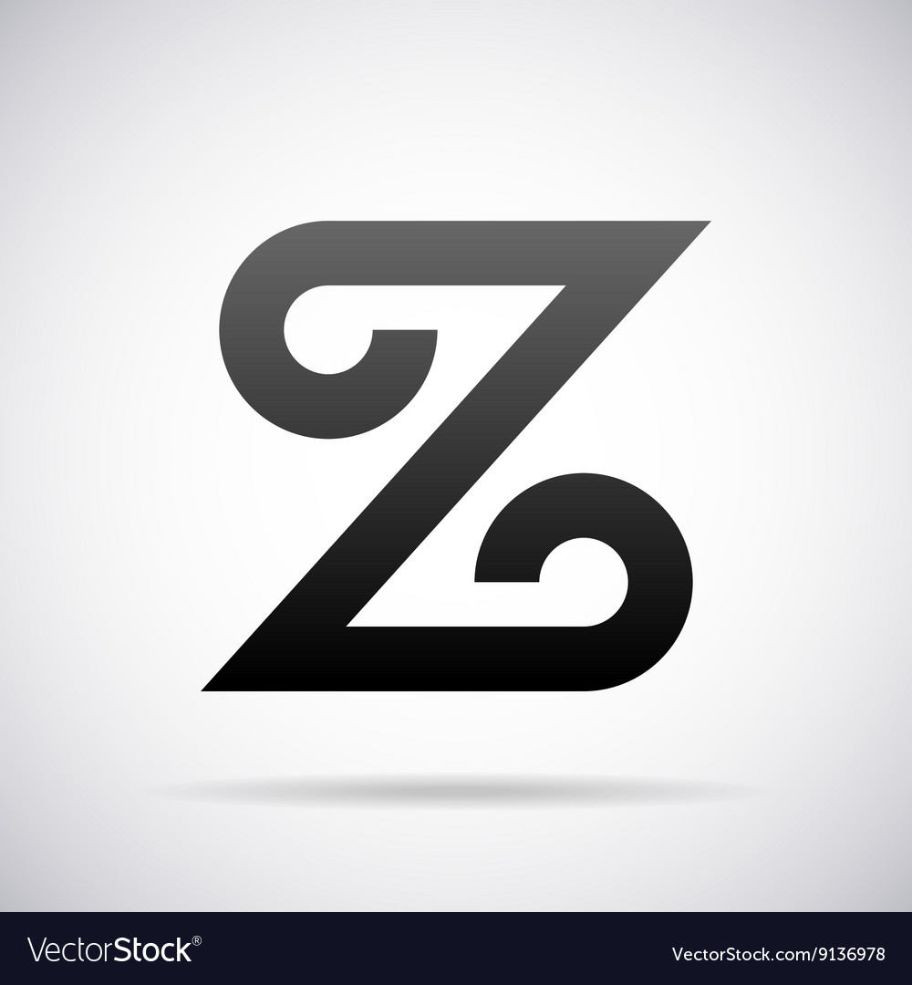 logo for letter z design template royalty free vector image
