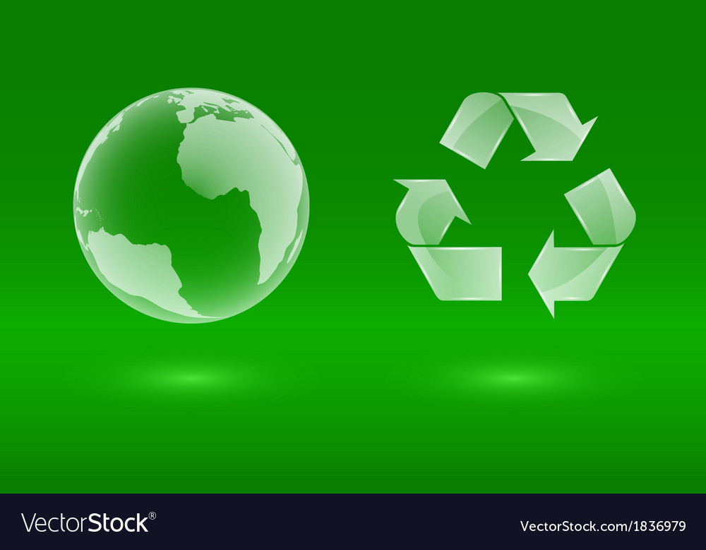 Glass eco icons vector image