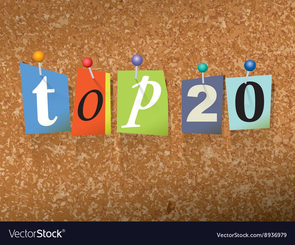 Top 20 Concept vector image