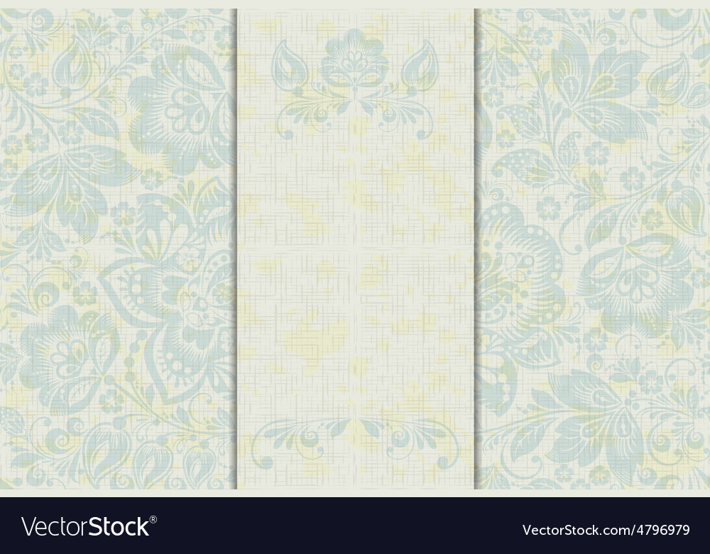 Wedding invitation cards vector image