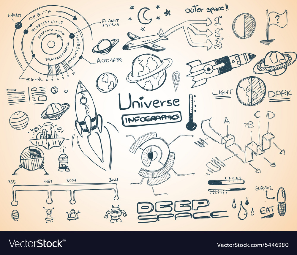 Universe Infographics vector image