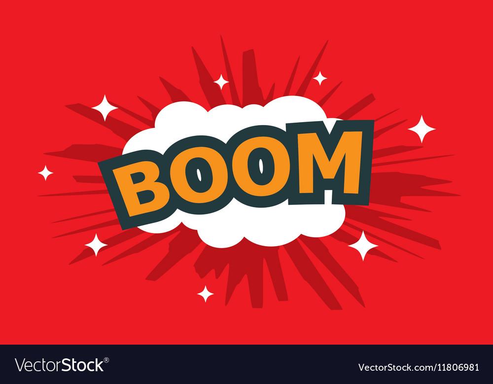 Boom wording sound effect set vector image