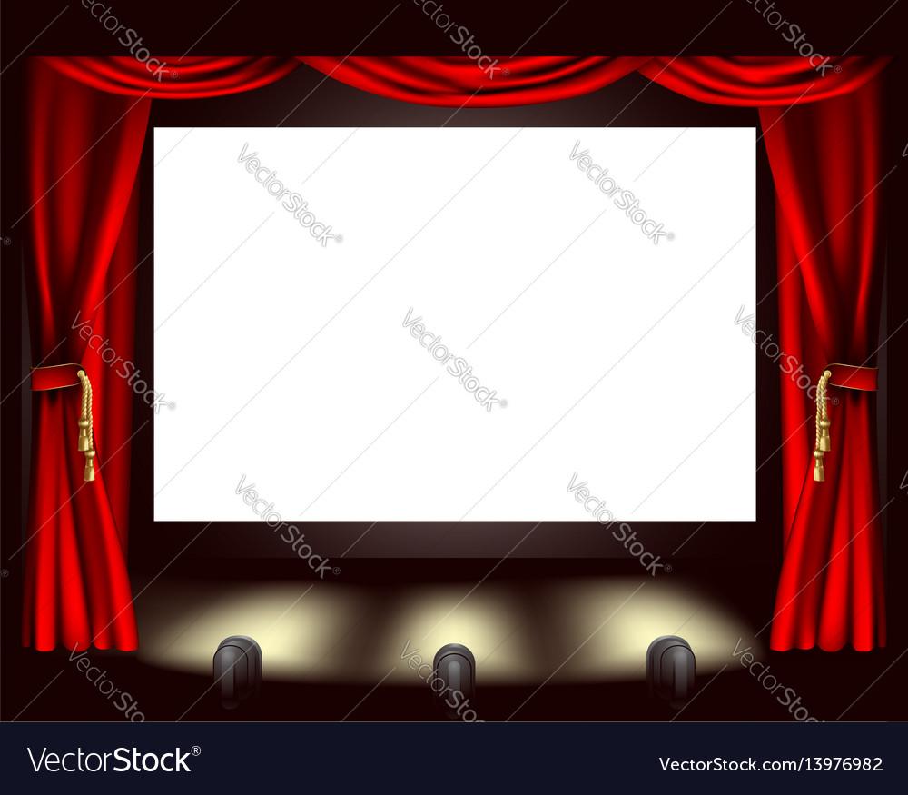 Cinema screen vector image