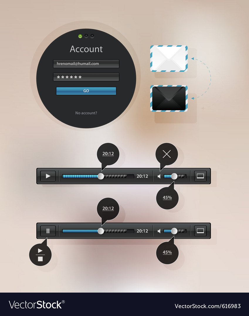 Information icon graphic interface for video Vector Image