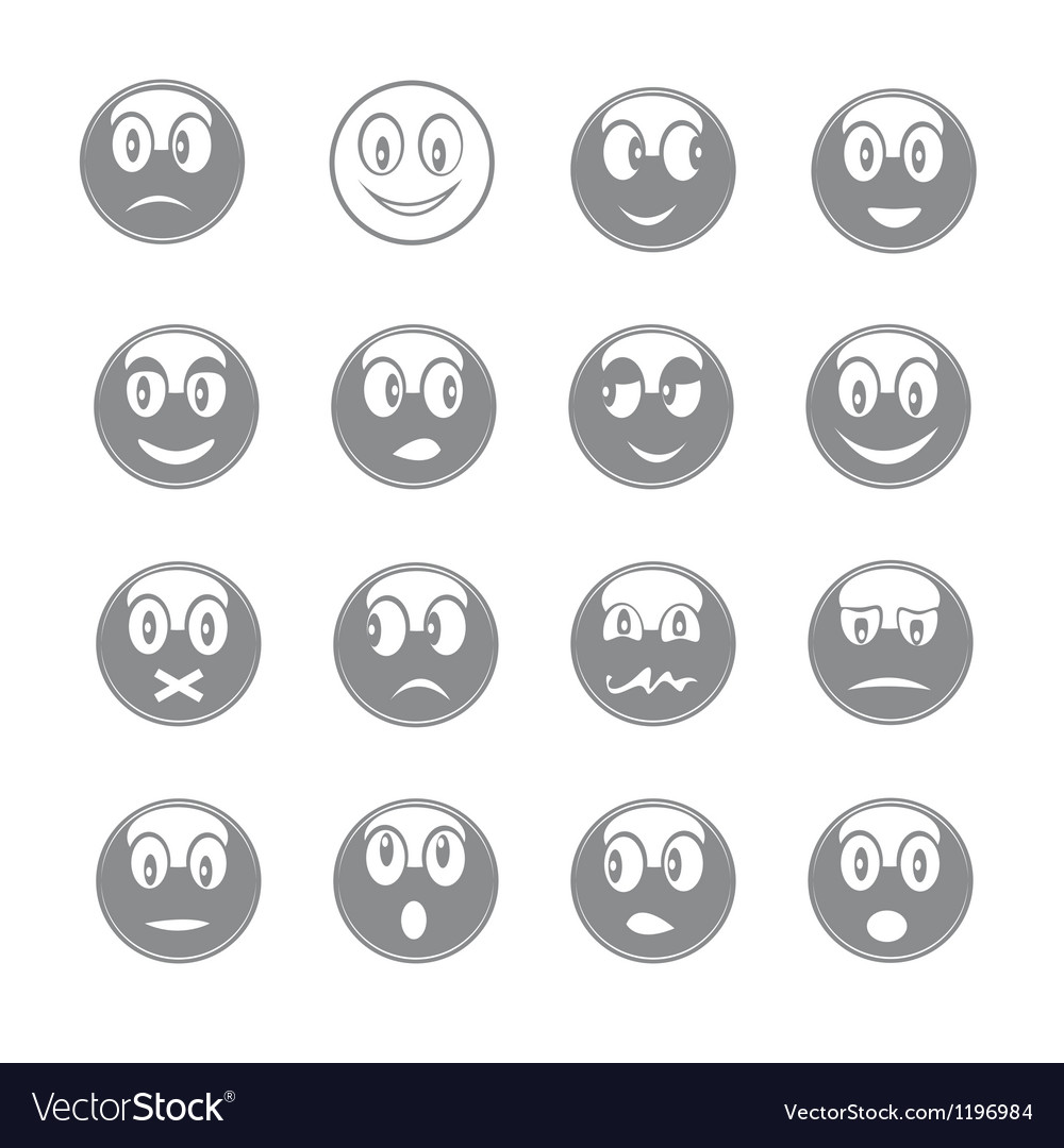 Smiley icons vector image