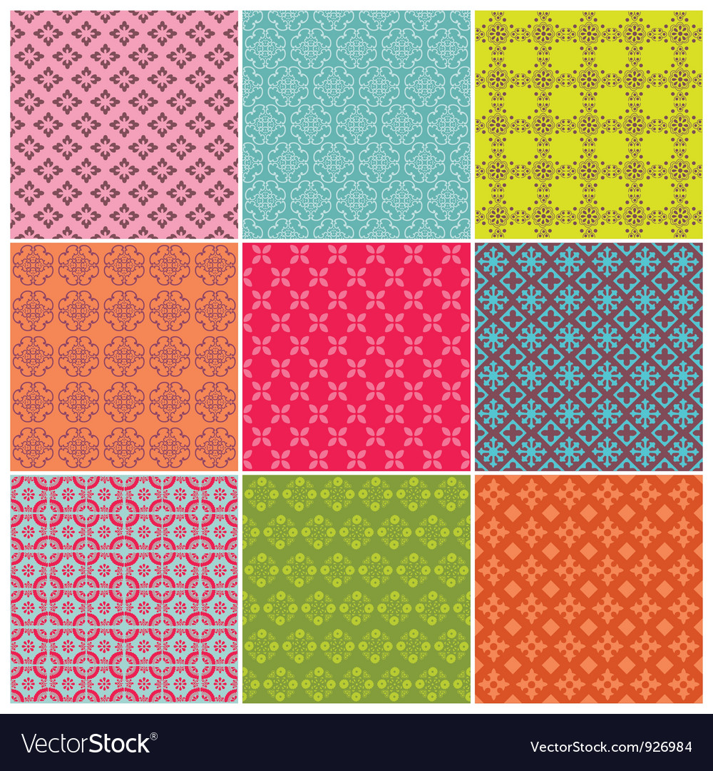 Seamless backgrounds Collection Vector Image