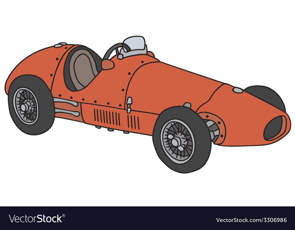 Old racing car Royalty Free Vector Image - VectorStock