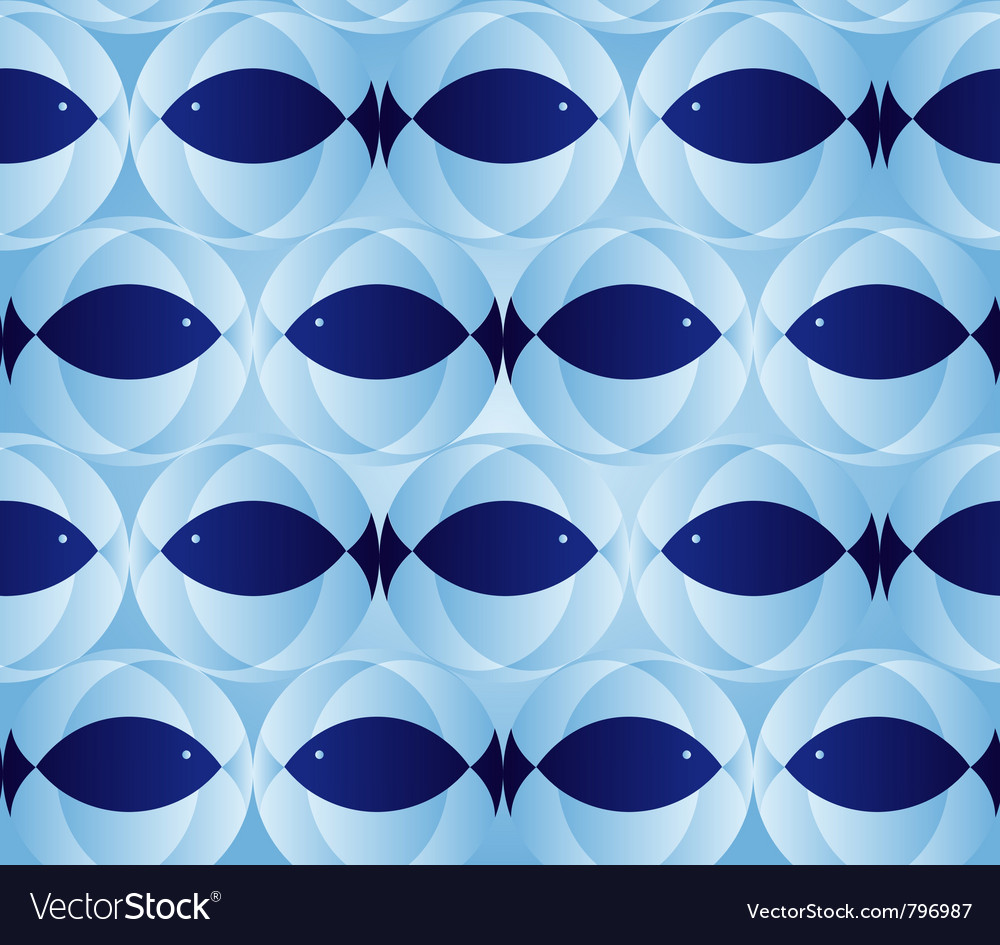 Blue seamless patter vector image